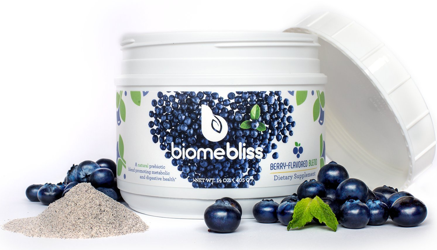 BiomeBliss Prebiotic - Clinically Tested Prebiotic Solution That Promotes: Hunger Control, Gut Health, Regularity, Blood Sugar Regulation - 405g (15 Servings)