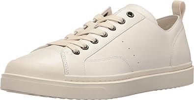 COACH Men's C114 Leather Lo Top Sneaker White Oxford