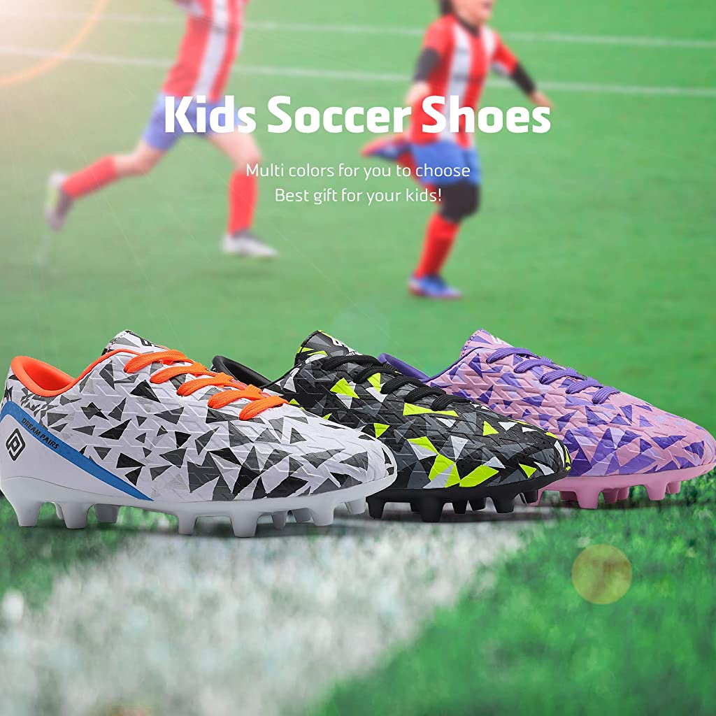 Toddler//Little Kid//Big Kid Cambridge Select Kids Lace-up Cleats Soccer Shoe