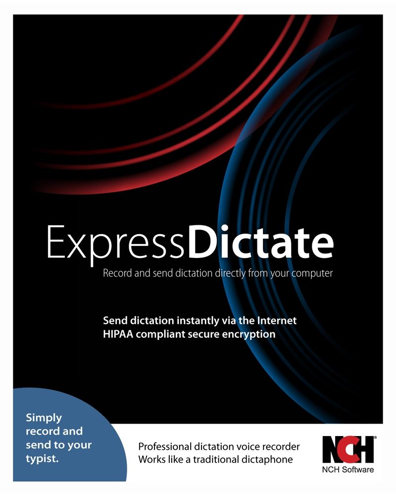 Express Dictate Digital Dictation Software - Record and Send Dictation to Typist [Download] by NCH Software