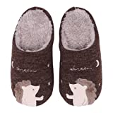Cute Family House Slippers Dog Cat Hedgehog Penguin Animal Indoor Home Slippers Winter Fuzzy Bedroom Slippers For Kids Slippers 9HH18PQWC