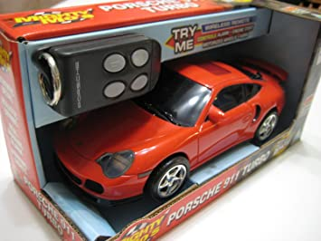Toymax Mighty Mos (China Red Porsche 911 Turbo Plastic Electric 1:20 Nib