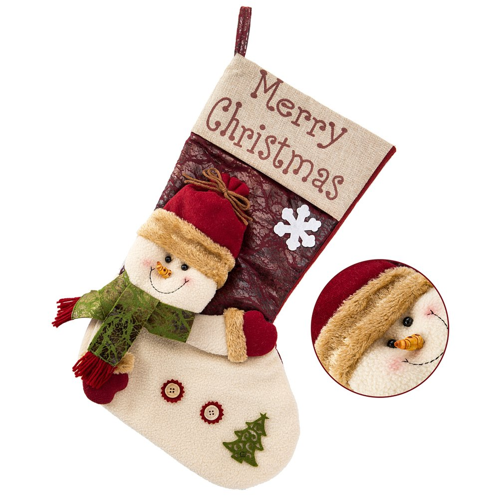 Weihnachtsstrumpf Für Kamin Nikolausstiefel Zum Befüllen Geschenke ...