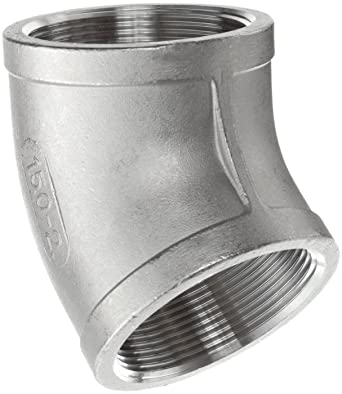 Class 150 Stainless Steel 316 Cast Pipe Fitting 90 Degree Elbow 1-1//2 NPT Female