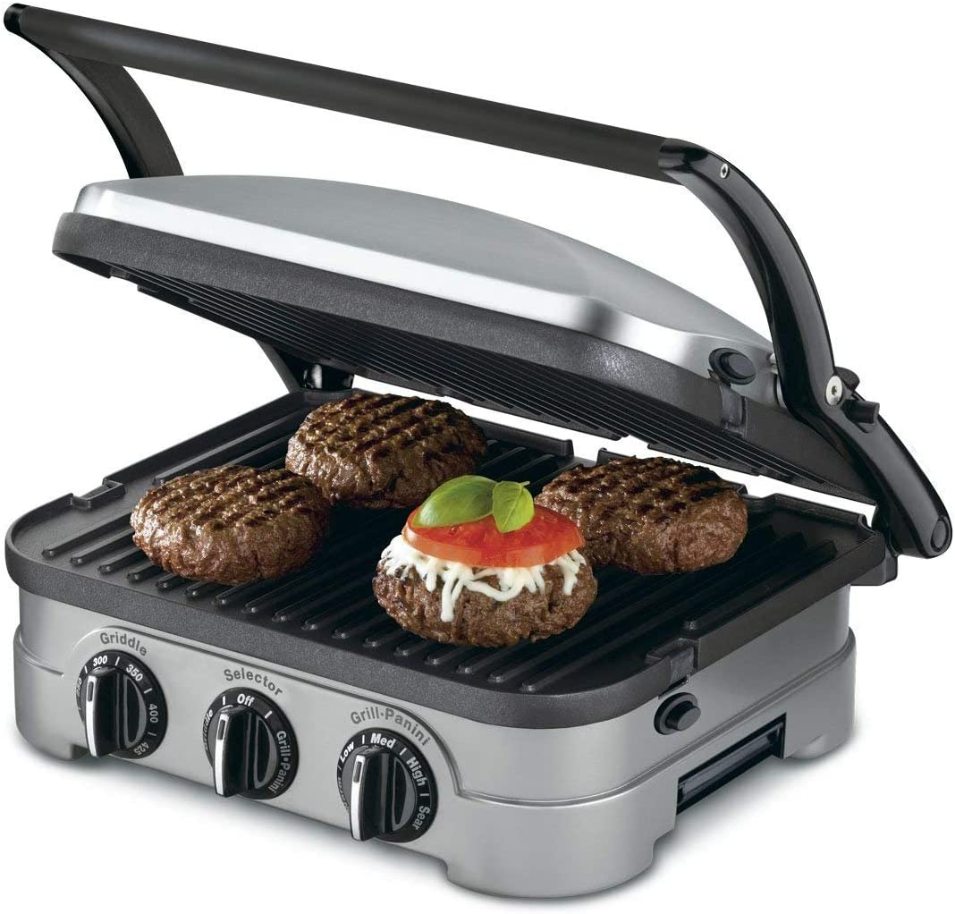 Cuisinart 5-in-1 Function Contact Counter-top Grill Panini Press Griddler Gourmet