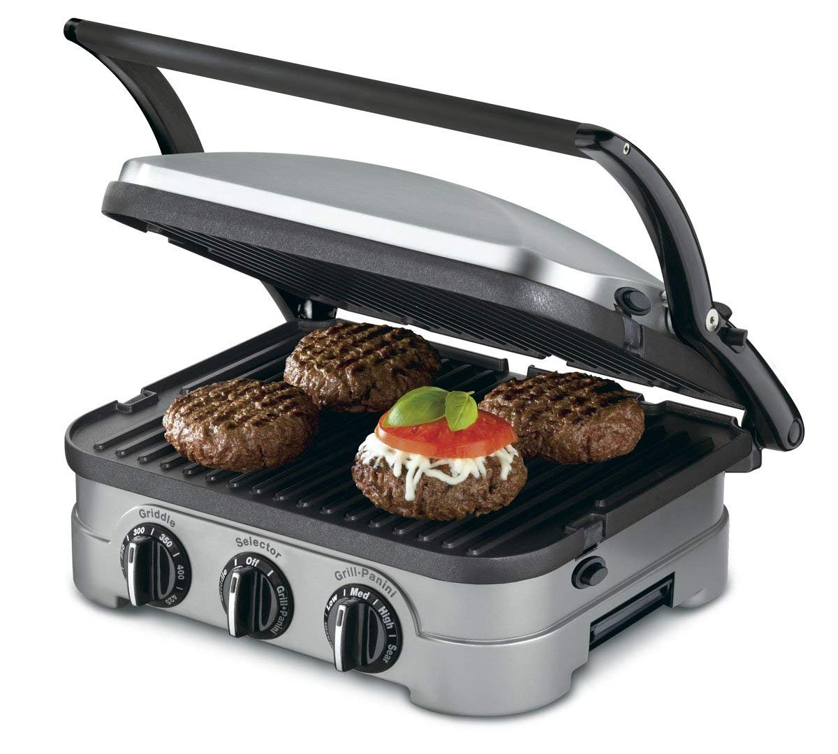 Cuisinart GRID-8NPC Griddler Gourmet Countertop 5-in-1 Panini Sandwhich Maker Grill Griddle