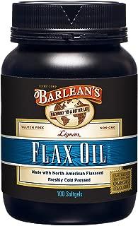 product image for Barlean's Lignan Flax Oil Softgels, 100 Count Bottle