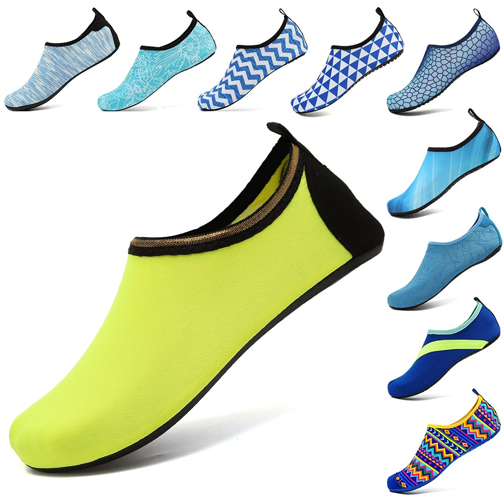 bf0ef94d8c6 VIFUUR Water Sports Shoes Barefoot Quick-Dry Aqua Yoga Socks Slip-on for Men