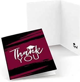 product image for Maroon Grad - Best is Yet to Come - Burgundy Graduation Party Thank You Cards (8 Count)