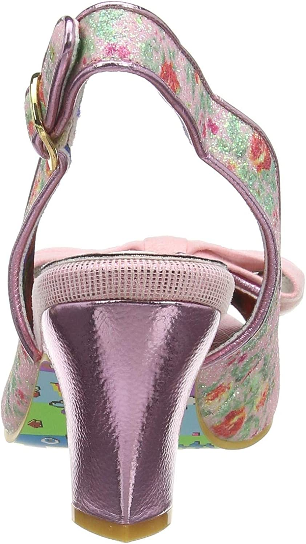 Irregular Choice Hiya Synth, Scarpe Col Tacco Con Cinturino Dietro La Caviglia Donna Rosa Pink A