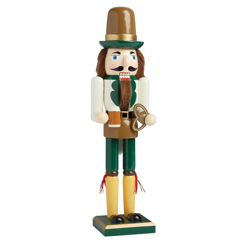 Octoberfest Beer Server Nantucket Home Wooden Christmas Nutcracker Decor 15-Inch