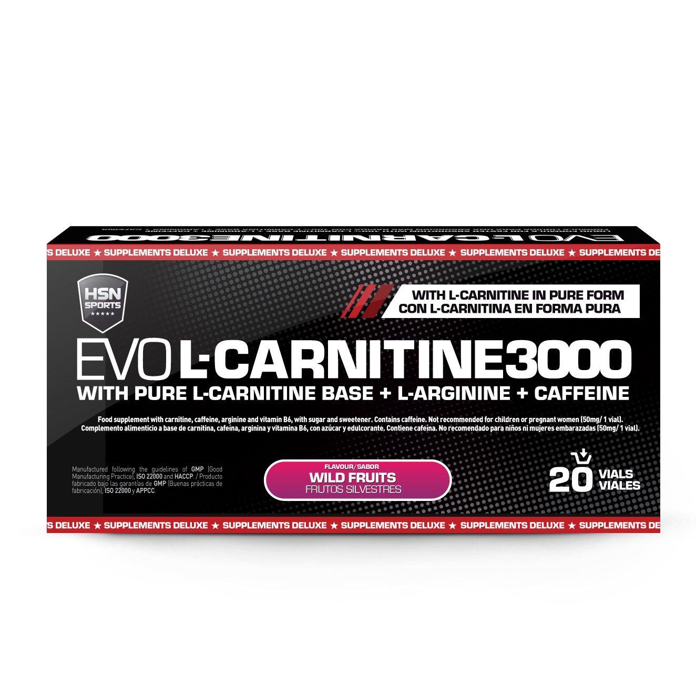 HSN Sports Carnitina Líquida - Evo L-Carnitine 3000 - Pérdida de Peso - Sabor Limón - 20 Viales: Amazon.es: Alimentación y bebidas
