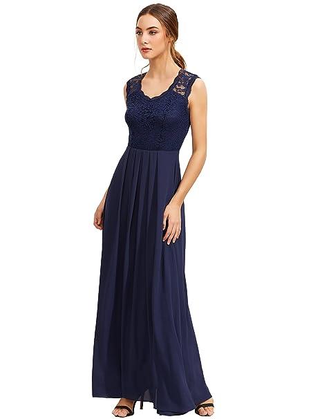Shein - Vestido - Trapecio - Sin Mangas - para Mujer Azul Azul Marino Large