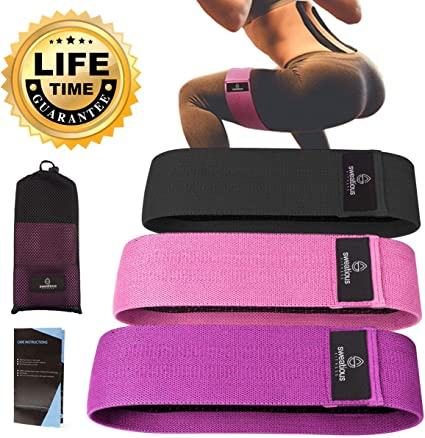 Elevated Thoughts Exercise Resistance Bands for Glute and Leg Exercises Workout Bands Wide Cut Resistance Bands for Both Men and Women