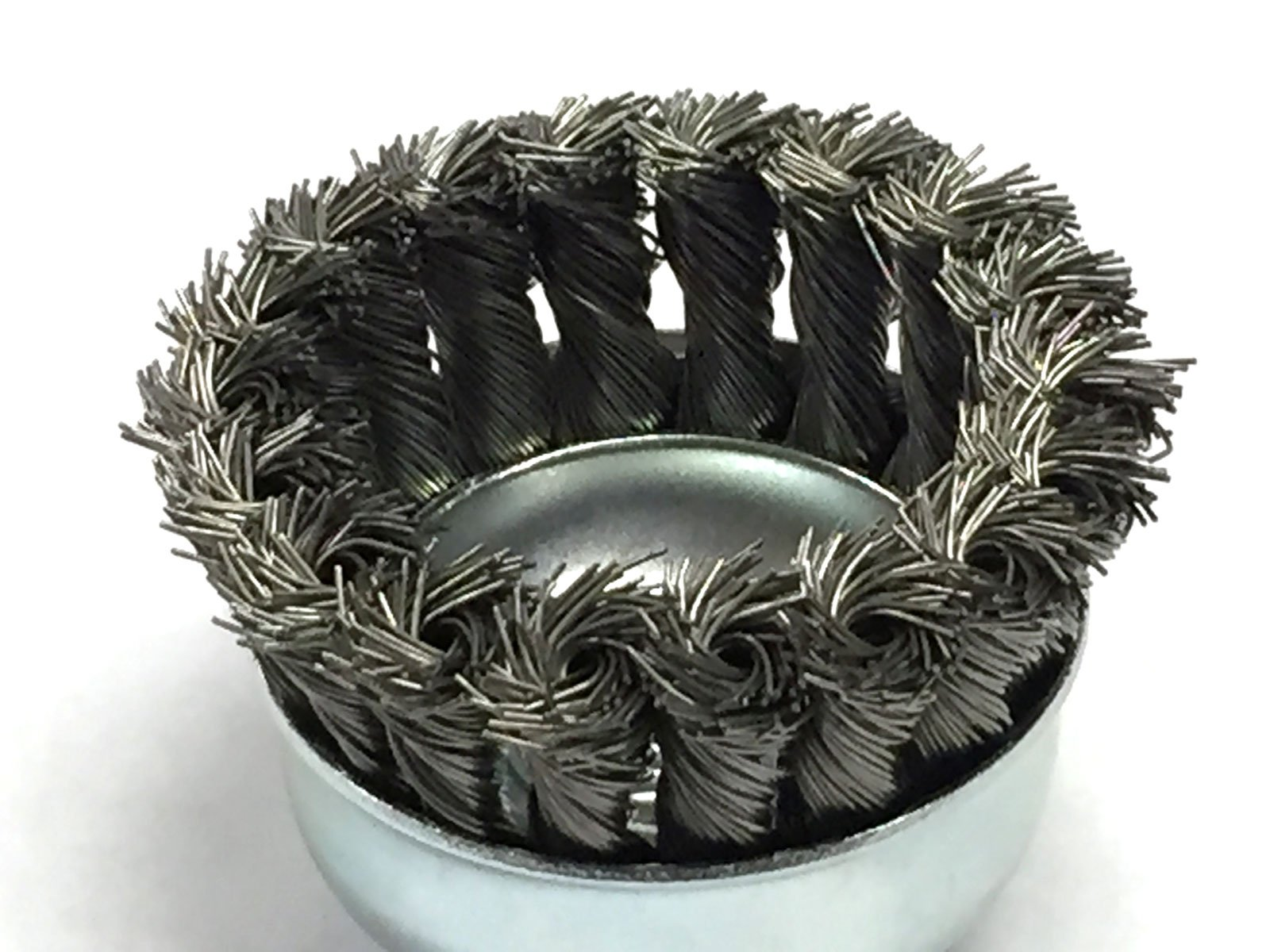2-3/4'' Dia Knot Style Cup Brush - Carbon Steel Wire - 5 Pack