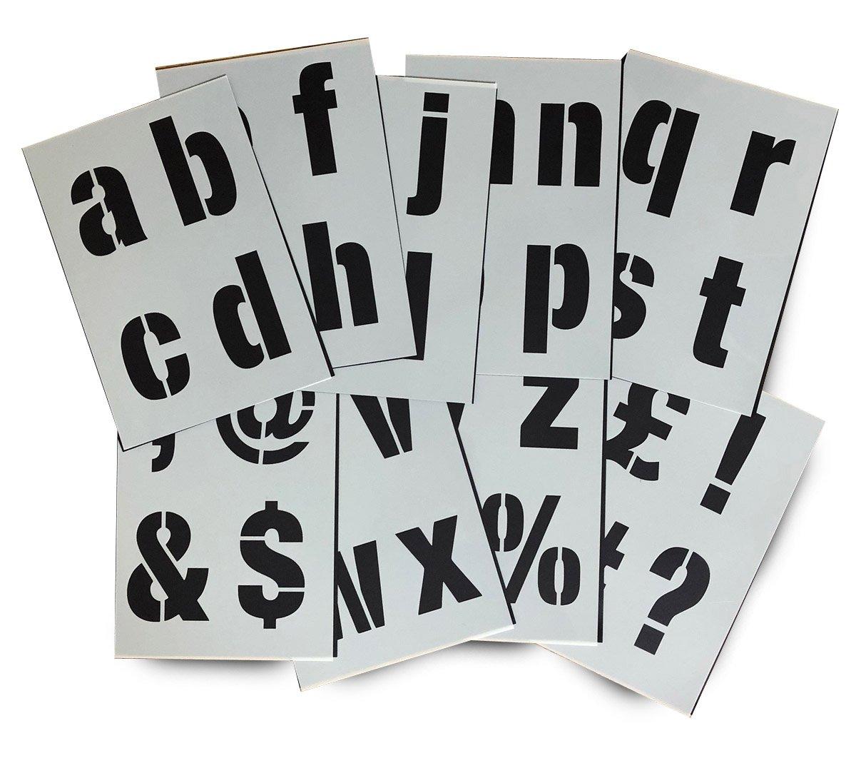 Alphabet Stencil Letters/Symbols 100mm Tall (4