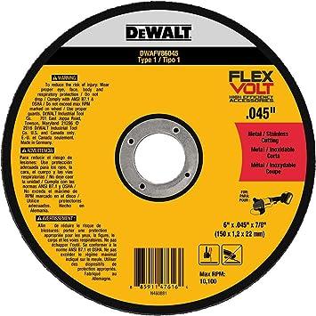 Dewalt Flexvolt Cutting Wheel 6 Inch Dwafv86045 Amazon Com