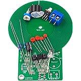 Tinygrass はんだ付け練習キットの金属探知器の電子部品は電子探知器キットを検出した後音およびライトを作り出します(色:黒)