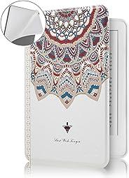 Capa Novo Kindle Paperwhite à Prova D'água WB® Ultra Leve Auto Hibernação Sensor Magnético Silicone Flexível Mandala