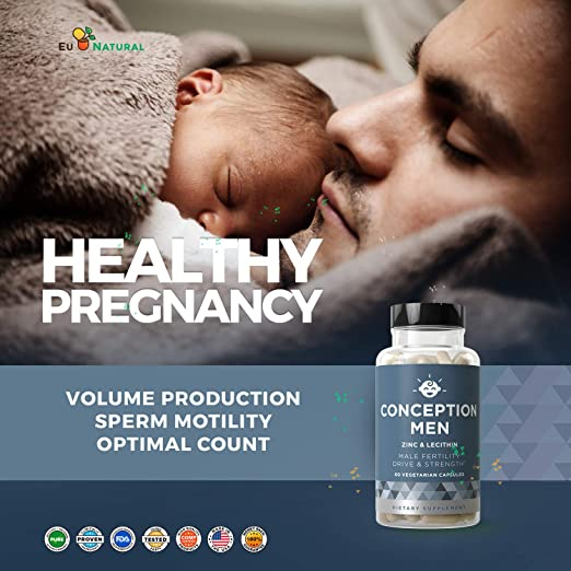 Conception Men Fertility Vitamins - Male Optimal Count, Sperm Motility  Strength, Healthy Volume