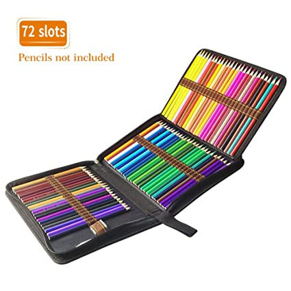 TOPERSUN Bolsa de Lápiz de Colores 72 Estuche Enrollable 72 ...