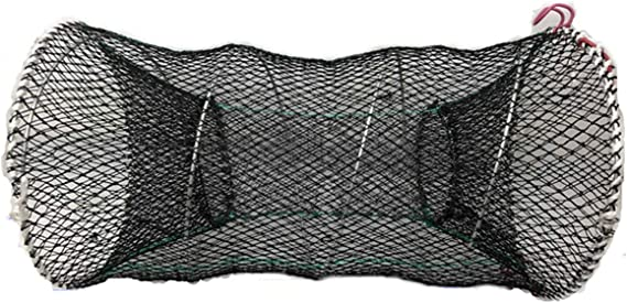 Paperllong/® Handguss Automatische Net Shrimp Cage Nylon Faltbare Crab Fish Trap Net Cast Folding Fishing Network 6 Holes Cast Angeln