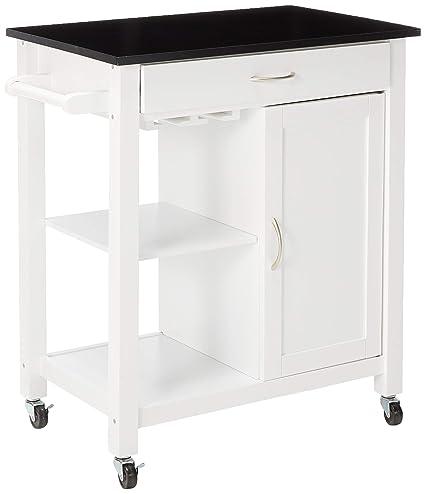Amazon.com - Major-Q Black and White Finish Wheeled Kitchen ...