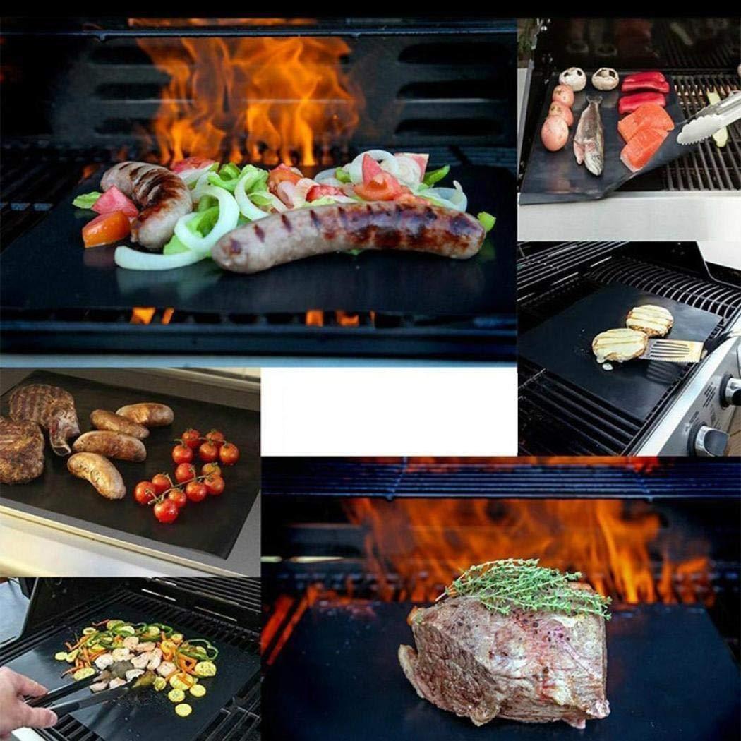 Yagot R/éutilisable Barbecue R/ôti Tapis R/ésistant /À La Haute Temp/érature Tapis De Barbecue Portable Pique-Nique Cuisine BBQ Papier De Cuisson