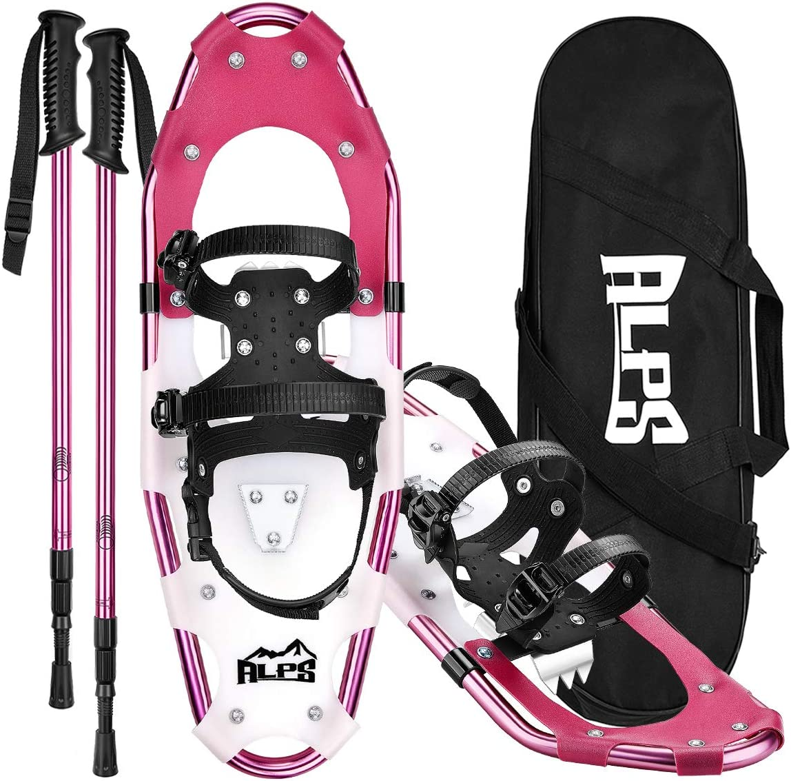 ALPS Lightweight Snowshoes Set for Women,Girls Trekking Poles,Carrying Tote 21