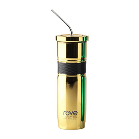 97ac35992c1 Rove 30oz Double Wall Stainless Steel Vacuum Tumbler with RPR Band and Bent  Straw (Electroplated) - Montenegro 2.2 (Gold)