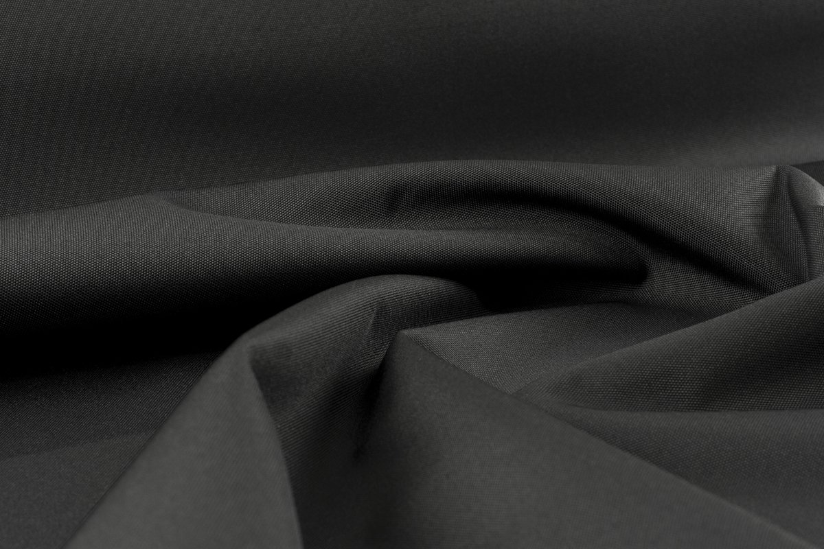 WATERPROOF BLACK  PERFORMANCE HIGH APPAREL CANVAS FABRIC 1000D  PER 1.5 MTR