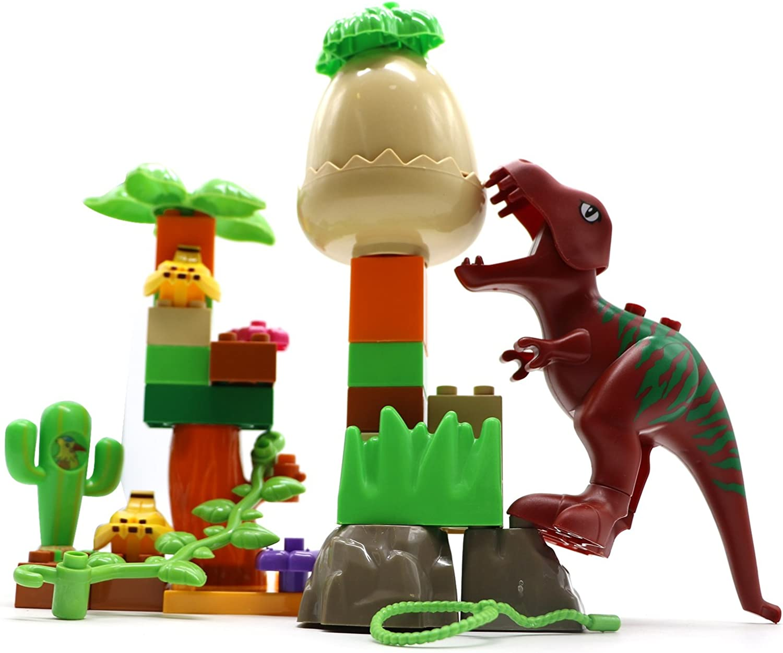 Little Treasures Dinosaur Toys Compatible Building Bricks Play Set (35 Pieces)