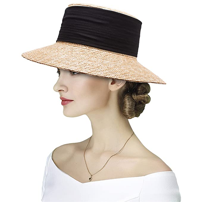 57b50088205df Lawliet Elegant Casablanca Style Womens Wide Brim Maize Straw Derby ...