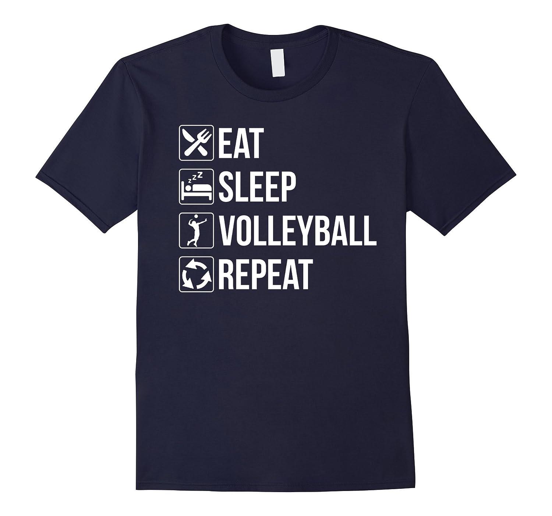 Funny Eat Sleep Volleyball Repeat TShirt-Vaci