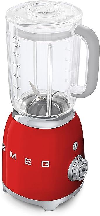 SMEG Batidora BLF01RDEU, 800 W, 0.45 litros, Metal, plástico, 4 Velocidades, rojo: Amazon.es: Hogar