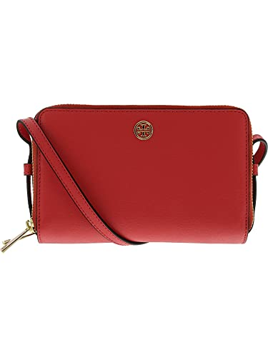 3b19a6aefcf Tory Burch Parker Double Zip Mini Bag (Red Ginger): Handbags: Amazon.com