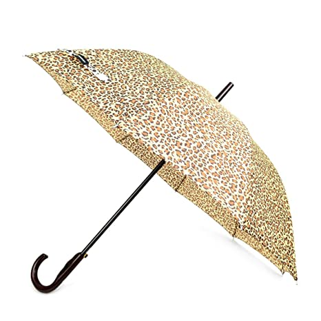 8d17309026e4f Amazon.com: BG Animal Print Brown Cheetah Auto Open Windproof Umbrella  J-Shaped Handle: Boxed-Gifts