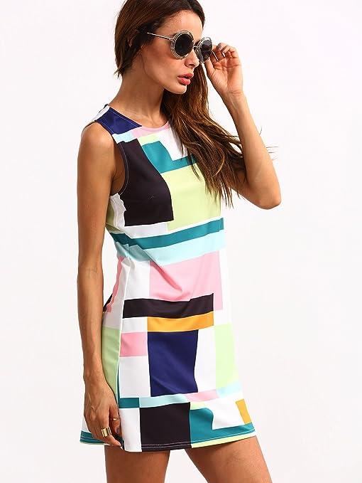ROMWE Damen Farbblock Bodyconkleid Figurbetone Sommer Kleider Cocktailkleid  Abendkleid Partykleid: Amazon.de: Bekleidung
