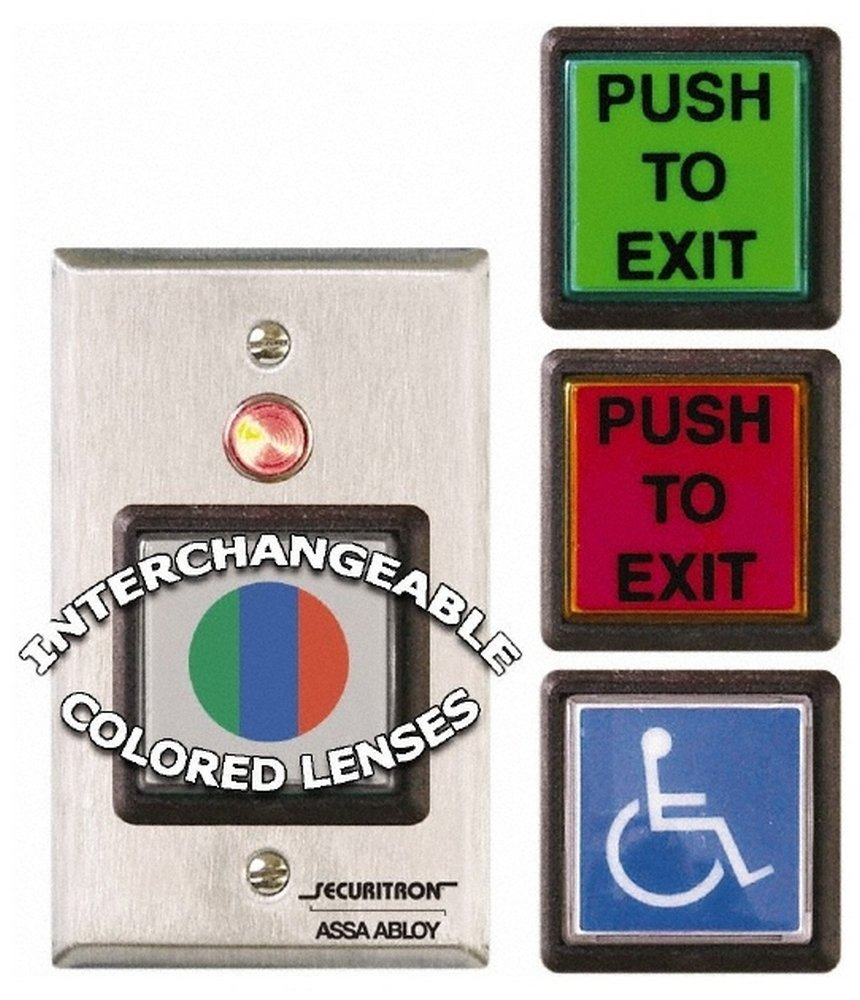 Electromagnet Lock Accessory, Momentary Push Button - Request to Exit by Securitron
