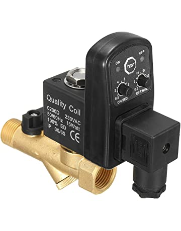 sodial ac 220v 1/2inch electronic timed 2way air compressor gas tank  automatic drain valve