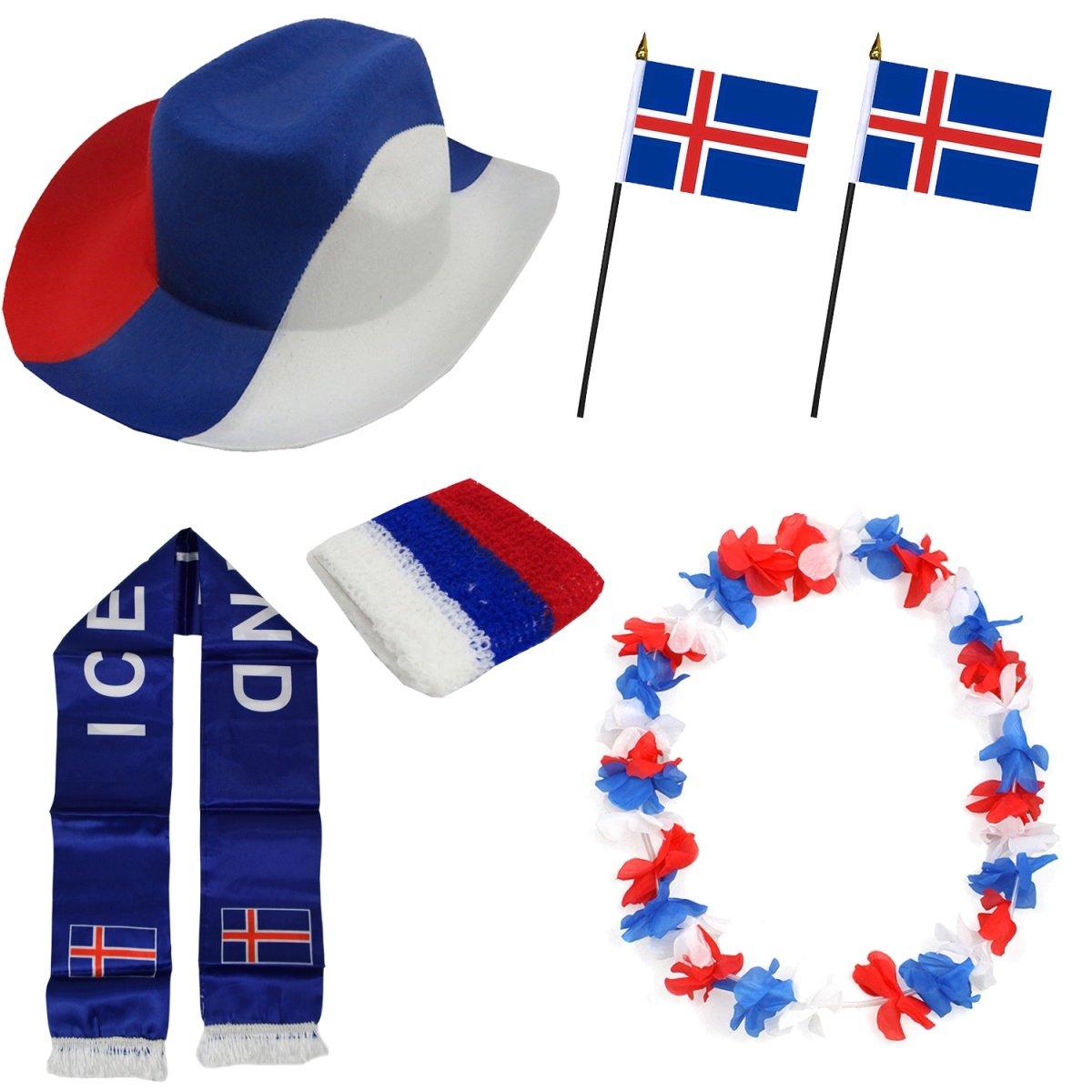Sonia Originelli Fan-Paket-1 Island WM EM Fu/ßball Fan Anfeuern Party