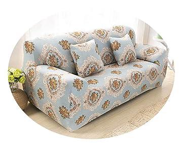 Surprising Amazon Com Florals Elastic Slipcover Sectional Sofa Covers Machost Co Dining Chair Design Ideas Machostcouk