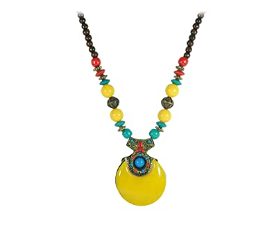 2978189e484 Buy Joovaa Junk jewellery Traditional Imitation Ethnic Tibetan Tribal  Antique boho gypsy Jaipur Pendant Designer Necklace for women Online at Low  Prices in ...