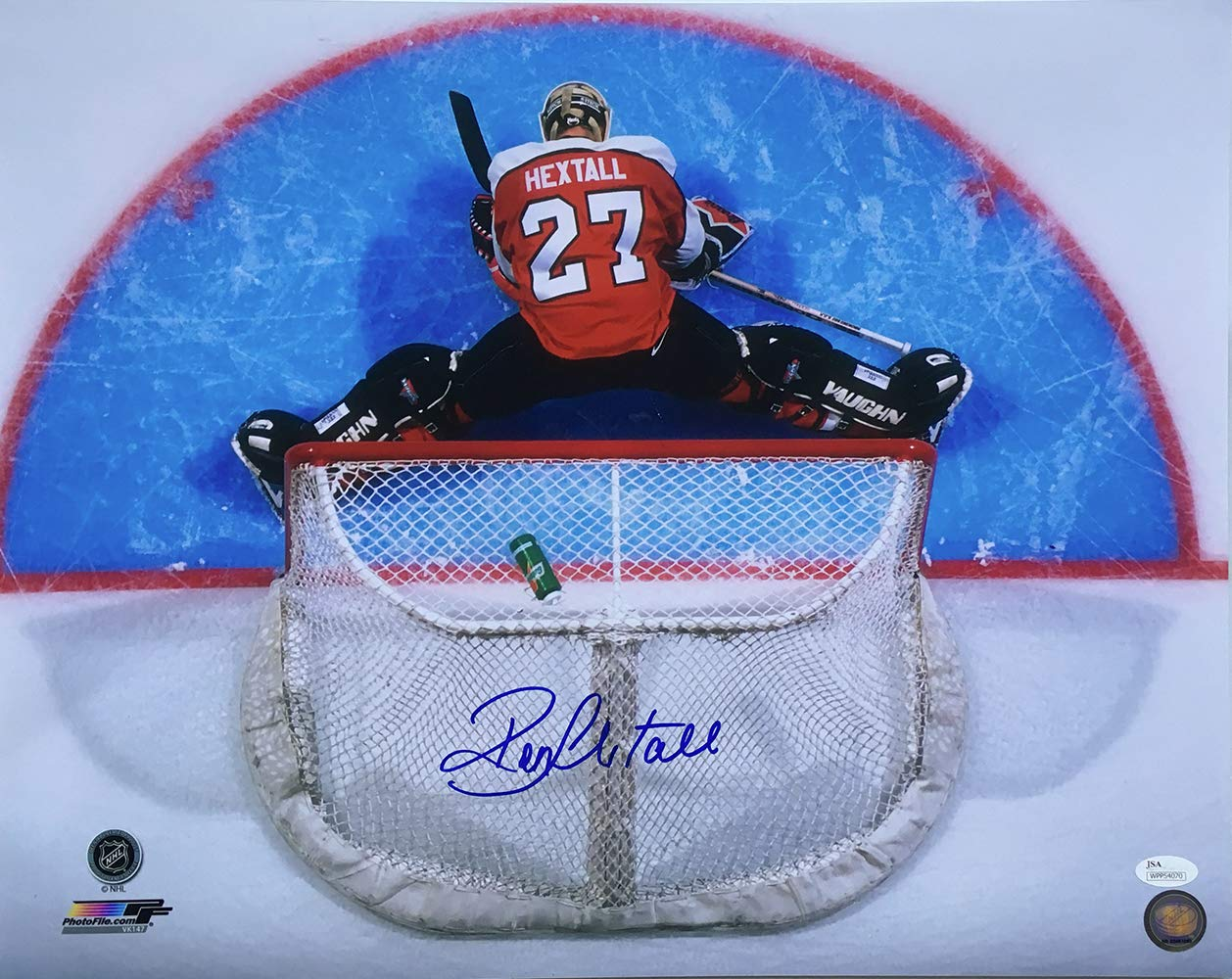 e05ad56f3 Ron Hextall Signed 16x20 Philadelphia Flyers Stretch Photo JSA at Amazon s  Sports Collectibles Store