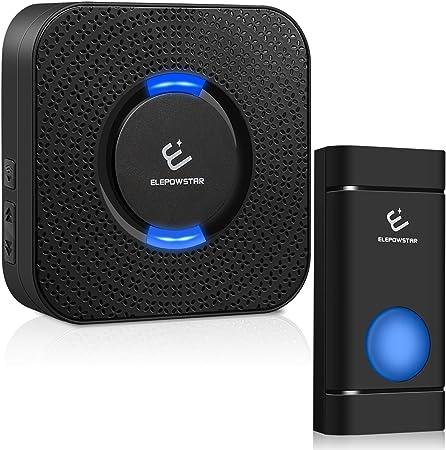 Wireless Doorbell TeckNet Waterproof Wireless Door Bell Chime Kit with LED