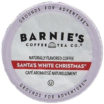 barnies coffee tea santas white christmas single serve coffee k cups for keurig brewers