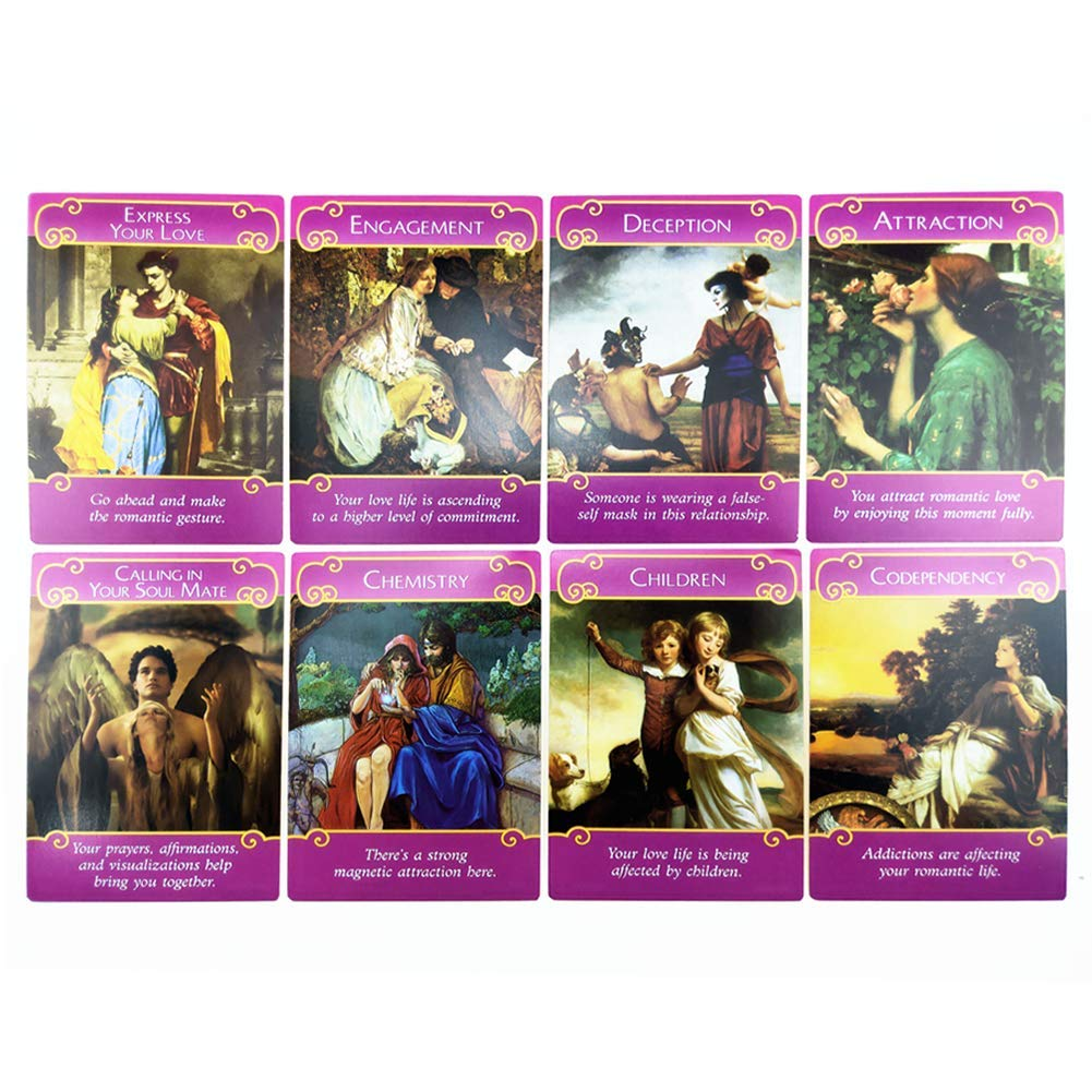 WXGY Tarot, Tarot Deck 2021 New Gold Plated Series 44 Romantic Love Angels Oracle Rare Out of Print Cards