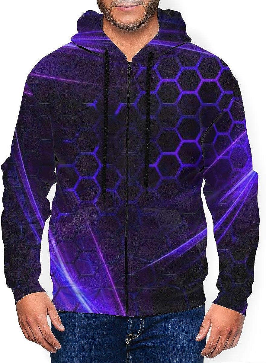 Guangzhouyuanyipifabu Geometry of Circles Men's Full Zip Hoodie Pullover 3D Print Sportswear Jacket