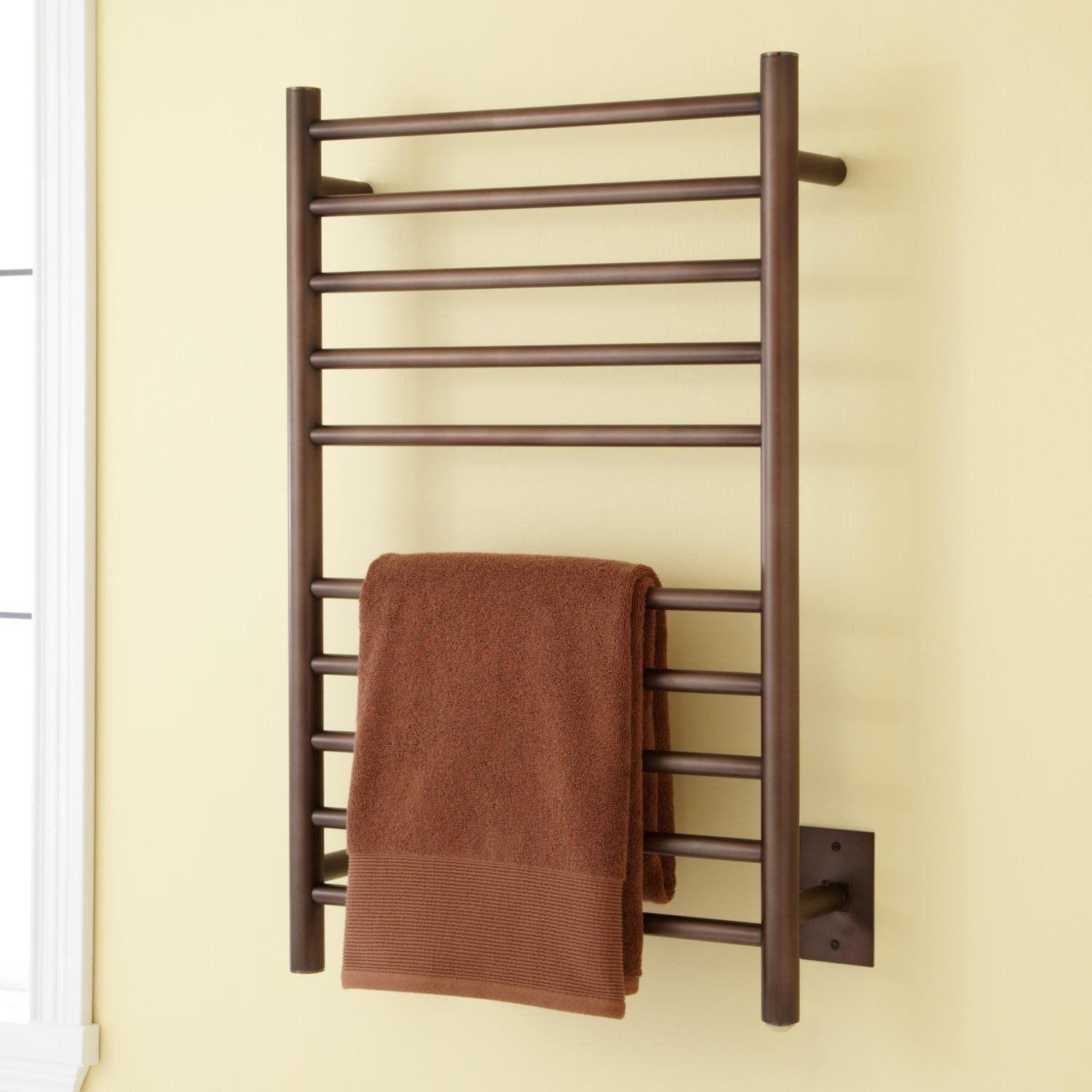Naiture 20'' Stainless Steel Hardwired Towel Warmer Oil Rubbed Bronze Finish