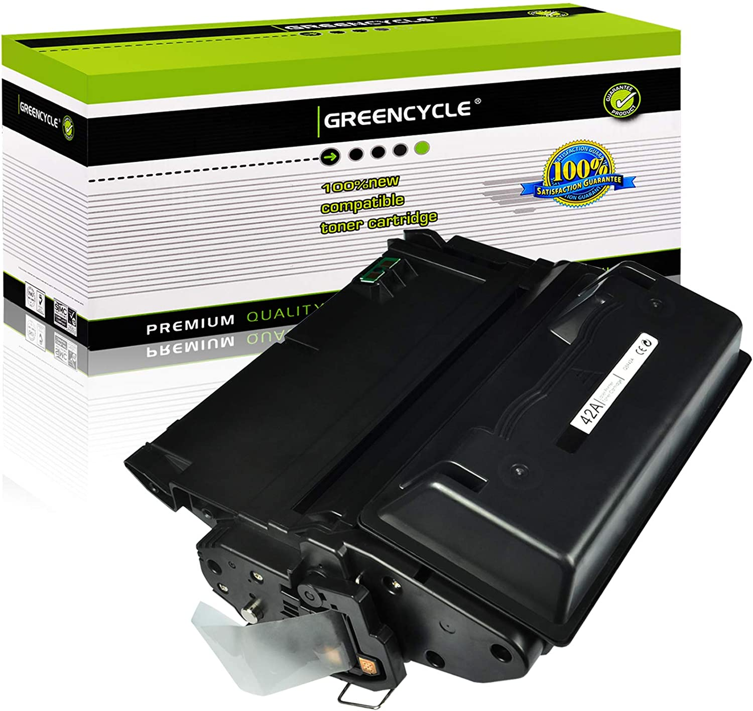 GREENCYCLE 1 PK 10,000 Pages Compatible Black Toner Cartridge Replacement for HP Q5942A Q5942 42A Used for Laserjet 4200 4240 4250 4250TN 4250N 4250DTN 4300 4350 4345MFP 4350N 4350TN 4350DTN Series